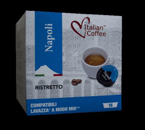 Капсули Italian Coffee Napoli Ristretto съвместими с Lavazza A Modo Mio 16 бр