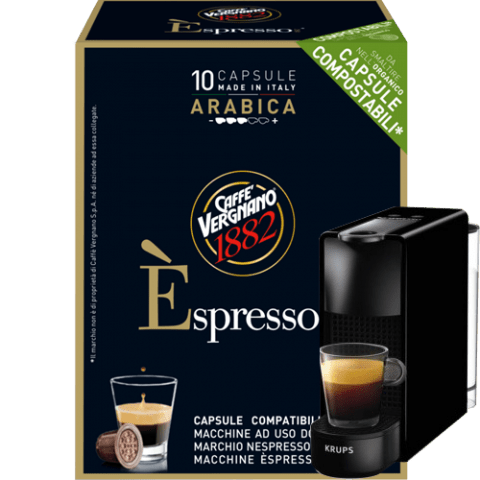 Кафе капсули Vergnano 1882 Espresso Arabica 10 бр. съвместими с Nespresso