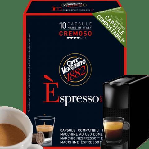 Кафе капсули Vergnano 1882 Espresso Cremoso 10 бр. съвместими с Nespresso