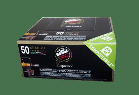 Кафе капсули Vergnano 1882 Espresso Arabica 50 бр. съвместими с Nespresso