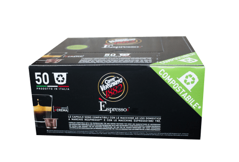 Кафе капсули Vergnano 1882 Espresso Lungo 50 бр. съвместими с Nespresso