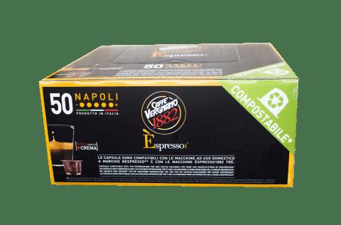 Кафе капсули Vergnano 1882 Espresso Napoli 50 бр. съвместими с Nespresso