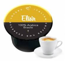 Капсули Italian Coffee Elisir 100% Арабика съвместим с Lavazza Blue 100 бр