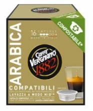 Кафе капсули Vergnano 1882 Арабика съвместими с Lavazza A Modo Mio 16 бр.