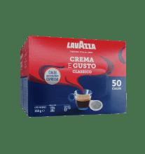 Кафе на филтър дози Lavazza Crema e Gusto 50 бр. Ese 44 мм