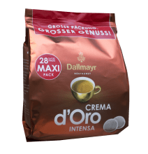 Кафе филтри дози Dallmayr Crema d'Oro Intensa 100% Арабика 28 бр. - 62мм