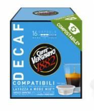 Кафе капсули Vergnano 1882 безкофеин съвместими с Lavazza A Modo Mio 16 бр.