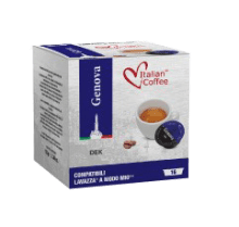 Капсули Italian Coffee Genova безкофиин съвместими с Lavazza A Modo Mio 16 бр
