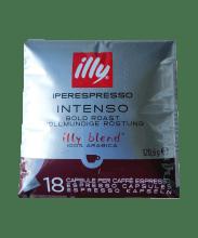 Кафе капсули Illy Intenso съвместими с iperEspresso 18 бр.