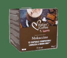 Капсули Italian Coffee Mokaccino  съвместими Lavazza A Modo Mio 12 бр