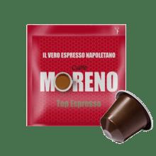 Кафе на филтър дози Moreno Top Espresso 100 бр. съвместими с Nespresso