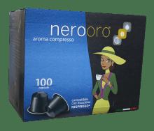 Капсули за кафе Nerooro Miscela Oro 100 бр. съвместими с Nespresso