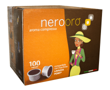Капсули за кафе Nerooro Miscela Oro 100 бр. съвместими с Lavazza Espresso Point