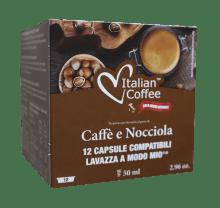 Капсули Italian Coffee Nocciola съвместими Lavazza A Modo Mio 12 бр