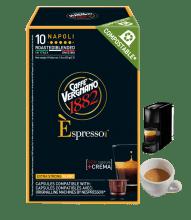 Кафе капсули Vergnano 1882 Espresso Napoli 10 бр. съвместими с Nespresso
